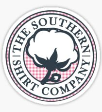 The Southern Shirt Co. Sticker — Pink Gingham Sticker