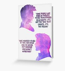 10th and 11th Doctor Galaxy Quotes Greeting Card