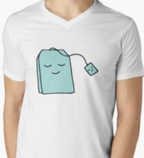 kawaii tea love blue Men's V-Neck T-Shirt