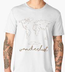 retro world map wanderlust travel  Men's Premium T-Shirt