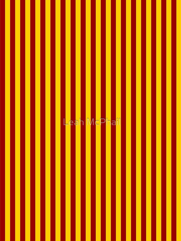 Cardinal and Gold Vertical Stripes by LeahMcPhail