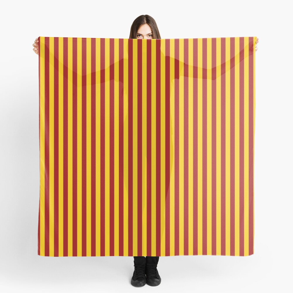 Cardinal and Gold Vertical Stripes Scarf