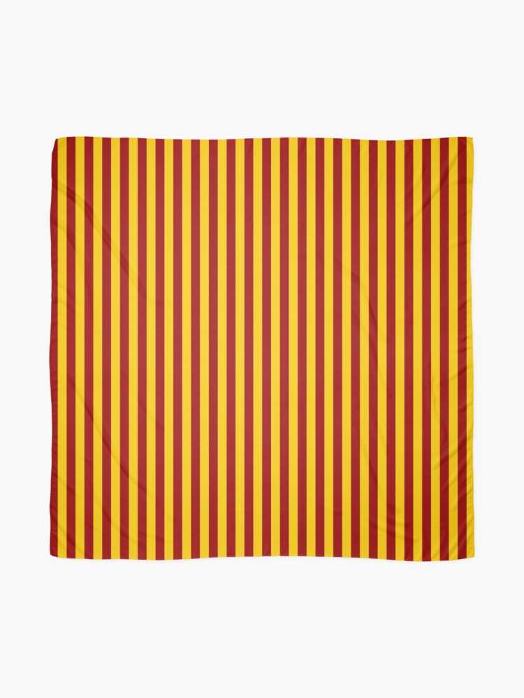 Alternate view of Cardinal and Gold Vertical Stripes Scarf