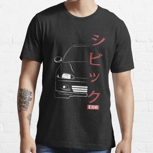 Honda Civic EG6 Vector Weiß Essential T-Shirt