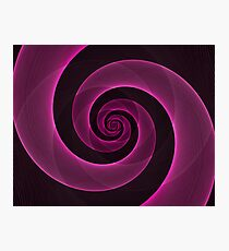 Bright Hot Neon Pink Infinity Mesh Spiral Matrix Photographic Print