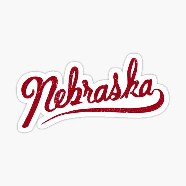 Nebraska | hand drawn | writing graphic | script | CornHusker | Huskers  Sticker