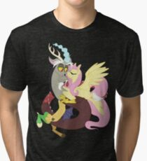 Beauty and the Beast - Discord and Fluttershy MLP:FIM Tri-blend T-Shirt