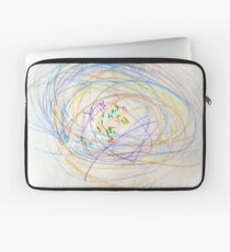 Child's Abstract Crayon Drawing Laptop Sleeve