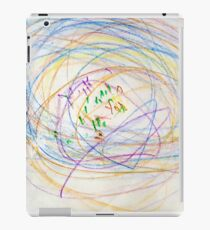Child's Abstract Crayon Drawing iPad Case/Skin