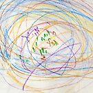 Child's Abstract Crayon Drawing by CreativeBytes