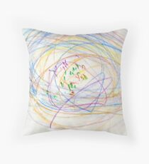 Child's Abstract Crayon Drawing Throw Pillow