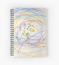Child's Abstract Crayon Drawing Spiral Notebook