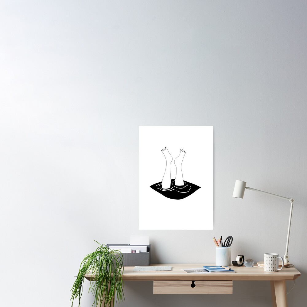 Splash! black&white_ Poster