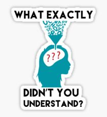 What Exactly Didn't You Understand? Sticker