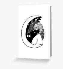 wolfstar (black&white) Greeting Card