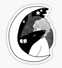 wolfstar (black&white) Sticker