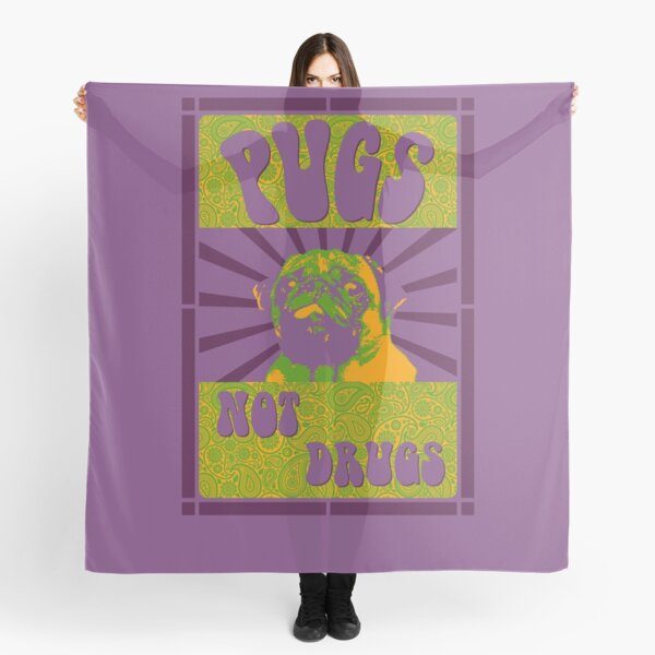 Pugs Not Drugs Scarf