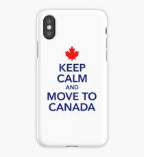 keep calm move to Canada Maple Leaf Canada iPhone Case/Skin