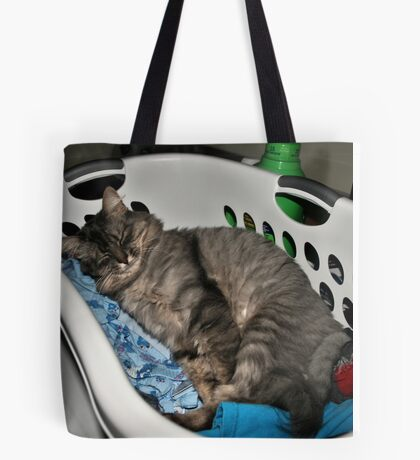 Laundry Cat Tote Bag