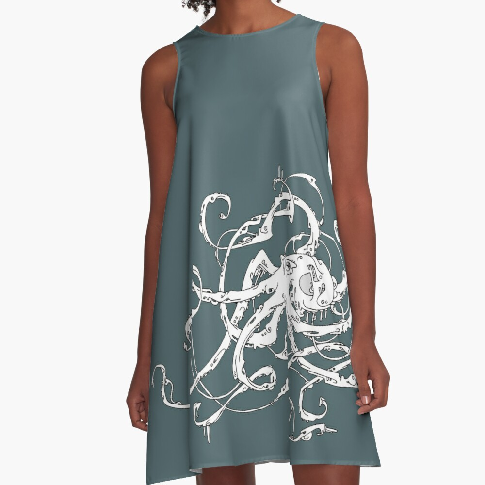 Biomechanical Octopus A-Line Dress