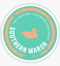 Southern Marsh Sticker — Green/Peach Sticker