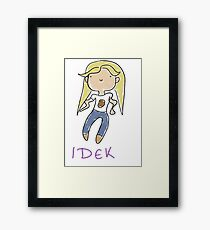 IDEK potato dork Framed Print