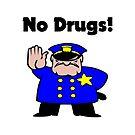 No Drugs Cartoon Policeman Anti-Drug Color by TinyStarAmerica