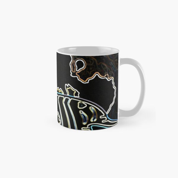 Blue Water Fish Dark Night Classic Mug
