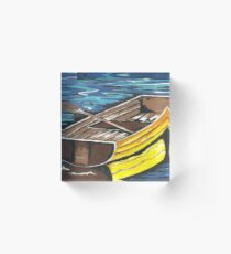 Boat Reflections Acrylic Block