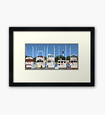 Boats on the Dock Framed Print