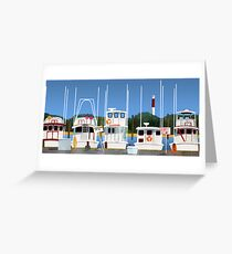 Boats on the Dock Greeting Card