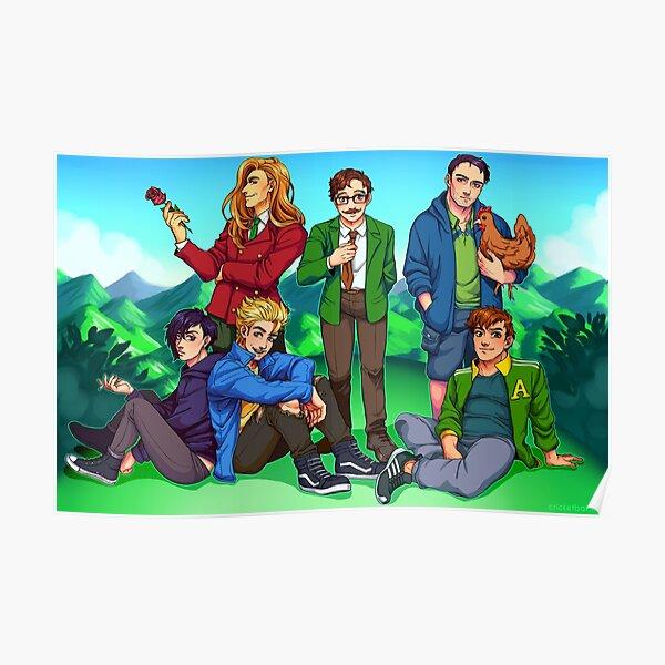 Stardew Valley Guys Poster