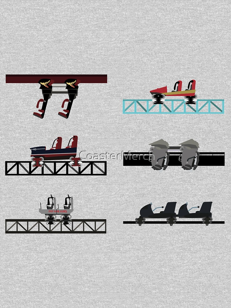 Thorpe Park Coaster Cars Design by CoasterMerch