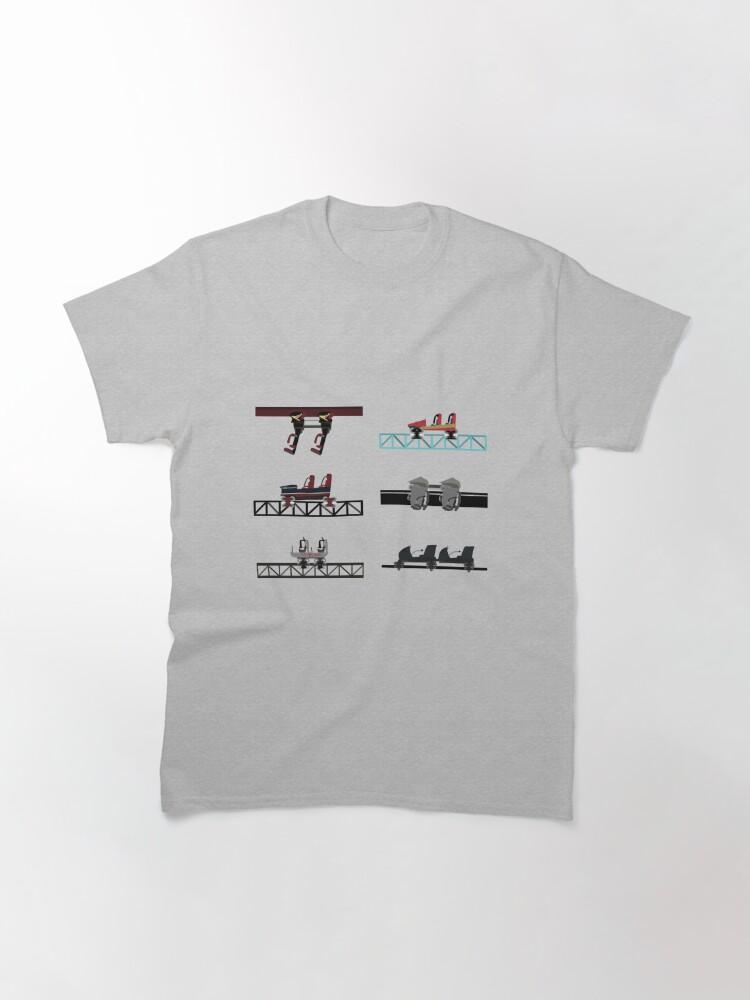 Alternate view of Thorpe Park Coaster Cars Design Classic T-Shirt