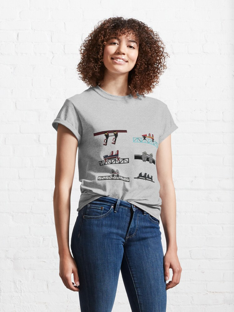 Alternate view of Thorpe Park Coaster Cars Design Classic T-Shirt
