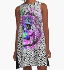 SKULL KING AND PATTERN A-Linien Kleid
