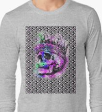 SKULL KING AND PATTERN Long Sleeve T-Shirt