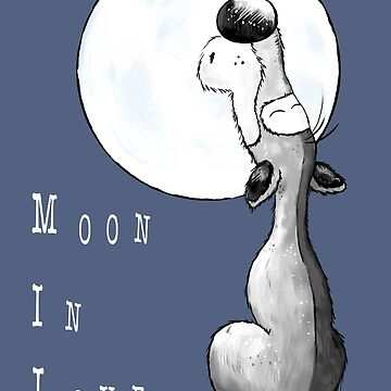 Moon In Love Wolf Cartoon by modartis