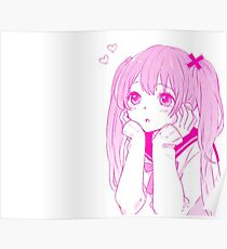 anime love girl Poster