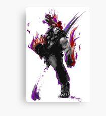Akuma Black & White Canvas Print