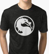 Mortal Dragon (White) Tri-blend T-Shirt