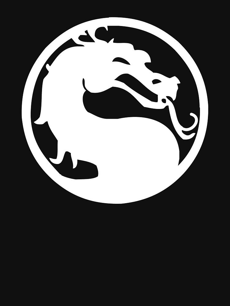 Mortal Dragon (White) | Unisex T-Shirt