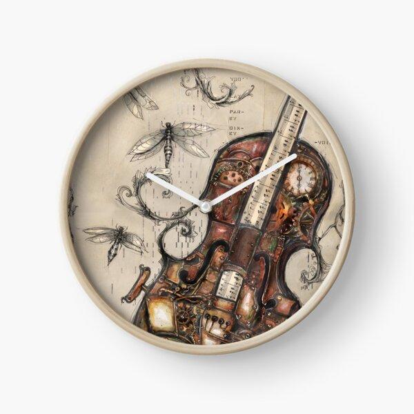 Steampunk voilin Clock