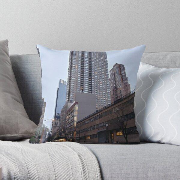 New York, Manhattan, New York City, Skyscraper, Tower block, High-rise building Throw Pillow