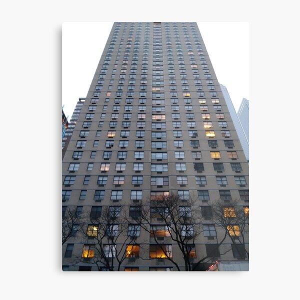 New York, Manhattan, New York City, Tower block, High-rise building Metal Print