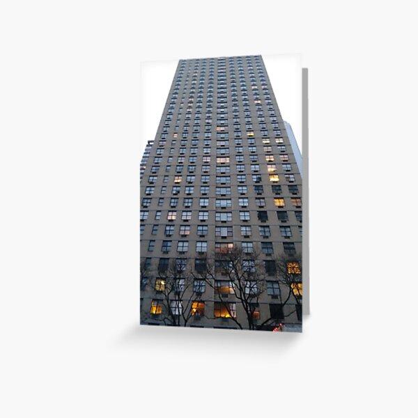 New York, Manhattan, New York City, Tower block, High-rise building Greeting Card