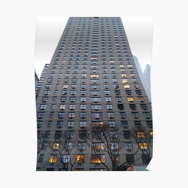New York, Manhattan, New York City, Tower block, High-rise building Poster