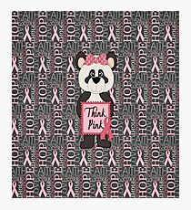 Think Pink Panda Bear Breast Cancer Photographic Print