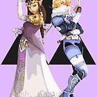 Zelda and Sheik by Ngea