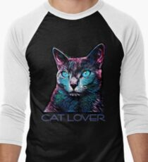 CAT LOVER CRASSCO RUSSIAN BLUE Men's Baseball ¾ T-Shirt